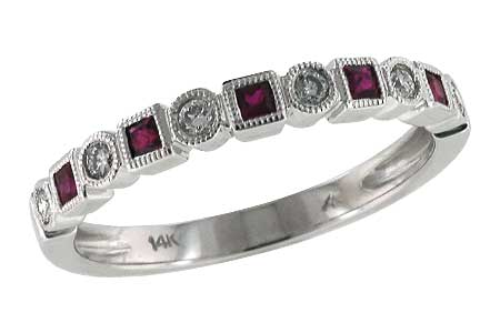D123-97815: LDS WED RG .18 RUBY .30 TGW
