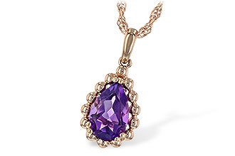 G216-67796: NECKLACE 1.06 CT AMETHYST